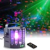 18W 9 Kolory 9 LED 2-kanałowy pilot zdalnego sterowania dualami Butterfly światła etapie DMX512 aktywowane dźwiękiem stroboskopu Efekt migotania lampy do KTV Disco Club Party Ślub Urodziny Halloween Boże Narodzenie Nowy Rok
