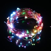 Tomshine 10M/33FT 100LEDs Starry Copper Wire String Extra Thin Bendable Flexible Multicolored Flashing Light Strip Christmas Holiday Festival Decorations US Plug