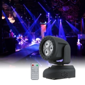 15W 3LEDs RGBW 4 in 1 Beam Moving Head Wash Effect Stage Light
