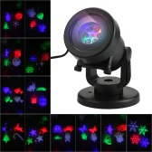 Projector Light 12Pcs Pattern Spotlight Romantic RGBW Snowflake/Love Film Rotating Garden Lamp for Birthday Party Valentine