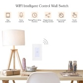WIFI Intelligent Touch Control Wall Switch Supported Smart Phone App Operated/ Voice Control/ Timing/ Time-delay/ Sharing Function Cpmpatible for Android/ IOS System for Lighting Fixture