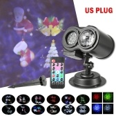 12 Patterns 2-in-1 Dual Heads LEDs Projector Stage Light Christmas Party Landscape Lamp