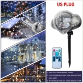 AC 100-240V 12W 4leds Snowflake Projector Stage Light with Remote Control IP65 Water-resistant Christmas Landscape Lighting