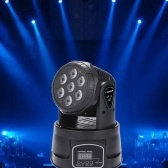Lixada 7 LED 105W RGBW 9/14 canali DMX512 Mini Stage Light