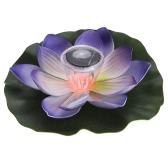 0.1W Solar Powered Multi-kolorowe diody LED Lotus Flower Lamp RGB Wodoszczelność zewnątrz Pływający Staw Night Light Auto On / Off dla Garden Pool Party idealny prezent różowy