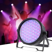 25W 151LEDs 7 Channels RGB DMX512 Dimming Wash Effect PAR Stage Light Sound Activation Master Slave Strobe Auto Run for Disco KTV Club Party