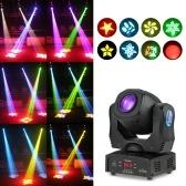 Tomshine 80W DMX512 Control de sonido 8 colores que cambian la lámpara de la etapa del LED
