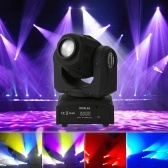 LED Stage Pattern Lamp 30W DMX512 Master-Slave Sound Control Auto Rotating 9 / 11 Channels Rainbow 7 Colors Changing Head Moving Light for Disco KTV Club Party