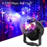 AC100-240V 6W 6 LED Colorful Magic Ball Light With Remote Control