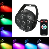 Flat 6 LEDs Stage Light Par RGB Disco Lamp