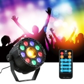 DMX512 9 LEDs Par RGB+Yellow Stage Light