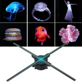3D Hologram Projector Advertising Display Fan Holographic Imaging Naked Eye Advertisement Fans With Detachable Blades