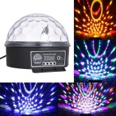 DMX512 LEDs 6 Colors Ball Stage Light with Remote Control 6 Channel Sound Activated Party Lights