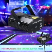 Mini DJ Disco Strobe Stage Projector Light Voice ativado com controle remoto Party Club KTV Light