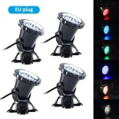 36 LEDs Underwater Diving Lamp Submarine Light Kit Set with Remote Controller