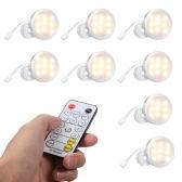 キャビネットライトキットセットパックランプの下の8PCSスリム丸型LED