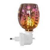 3D Glas Nachtlicht Elektrischer Ölwärmer Wachsbrenner Home Office Weihrauch Ölwärmer Aroma Dekorative Lampe Aroma