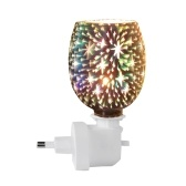 3D Glass Night Light Electric Oil Warmer Wax Burner Home Office Incense Oil Warmer Aroma Decorative Lamp