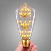 3W ST64 LED Ampoule de Lumière AC 220V Douille E27 30W Equivalent Vintage Design Edison Lumière Chaleureuse Rétro pour Décorations des Vacances Noël Festival Blanc Chaud 2200K
