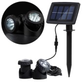 Lixada Solar Powered Super Bright 2 podwodne lampy LED Light Sensor 12 Projektor światła Garden Pool Pond Yard głębinowe Spotlight Outdoor Oświetlenie krajobrazu Wykorzystanie Biała