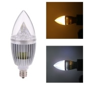 8W E12 LED Candle Bulb Light Silver Dimmable Chandelier Lamp
