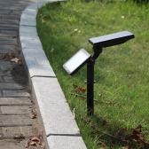 Tomshine 3W 48 LED Solar Powered Lawn Lamp 350LM 2-IN-1 Ściemnialny Regulowany Wodoszczelność zewnątrz ściana światła 3 Jasność 5 Oświetlenie Tryb Auto On / Off dla Yard Ogród Balkon Taras wypoczynkowy