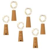 Tomshine Wire String Light 6PCS 75CM 15 LEDs High Bright Starry Fairy Креативная бутылочная пробка DIY Украшение Атмосферная лампа для домашнего бара Свадебная новогодняя рождественская открытка