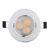 Silver LED Ceiling Recessed Down Light Fixture Lamp Super Bright Lights Indoor Lighting White