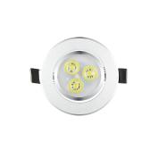 Srebrna lampa sufitowa LED wpuszczana w dół Oprawa światła Super Bright Lights Oświetlenie wewnętrzne White