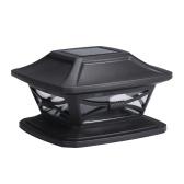 Solar Post Lights Garden Landscape Lamp IP44 Water-resistant Outdoor Post Cap Lights