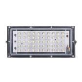 AC110V Lámpara portátil de luz de proyecto para exteriores con ahorro de energía de 50 W Iluminación ligera para áreas grandes Borde de aluminio 6500 K Reflector blanco frío