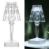 USB Rechargeable Acrylic Diamond Table Lamp Touching Control Crystal Bedside Night Light Decorative Bedroom Nightstand Lamp