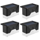 Солнечный настенный светильник Открытый IP65 Водонепроницаемый светодиодный светильник для двора, сада, улицы, лестницы, освещения