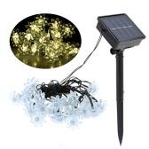 5M 20LEDs Solar Powered Energy Warm White Flower String Fairy Light Outdoor Lamp 2 Diverse Lighting Effects