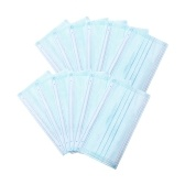 50Pcs Disposable Medical Face Mask 3 Layers Medical Mask Non-woven Disposable Anti-dust Safe   Breathable Medical Masks Blue