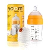 YOOMI Baby Warmer + 5oz / 8oz Babyflasche mit Slow Flow Zitzen Set