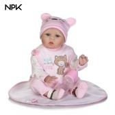 22in Reborn Baby Rebirth Doll Kids Gift Blond Hair Pink Kitty