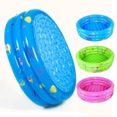 Inflable Baby Kiddie Pool 3 Anillos Circle Portable Baby Float Lounge Piscina para uso en el hogar y aire libre Color aleatorio 80