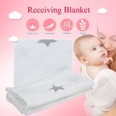 Infantil del bebé de la estrella Tipo de algodón del paño de empañar manta de recepción