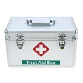 Carevas Große 370 STÜCKE Verbandskästen mit Abschließbare Aluminium / Kunststoff Fall für Home Auto Outdoor Familie Notfall Kits Box Container