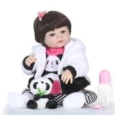 Reborn Baby Girl Doll 22 inch Soft Full Silicone Vinyl Body Lifelike Toddler Doll