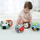 Baby Plush Ball Toys Cartoon Animal Rattles Bell Velvet Material