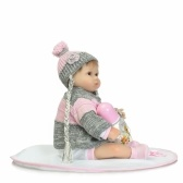 15in Reborn Baby Rebirth Doll Kids Gift Grey Sweater