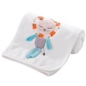 Baby Blanket Soft Flannel Swaddling Embroider Коляска Автомобиль Диван Постельное белье Одеяло Мальчик-мальчик Лев