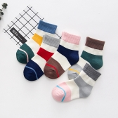 Pack de 5 calcetines deportivos para bebés Calcetines de tobillo de algodón unisex para niño de 1 a 3 años para niños pequeños Chico Chica Style1