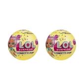 2Pcs LOL Überraschung! Konfetti Pop-Serie 3-Wave 1 Auspacken Spielzeug 9Cm