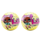 2Pcs LOL ¡Sorpresa! Confetti Pop Series 3 Doll 9Cm