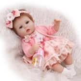 Reborn Baby Doll Girl 16inch 41cm PP Filling Body Realistic Lifelike Boneca Gifts Toy