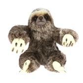 8.8Inch Lifelike Plush Toy Animated Sitting Sloth Fluffy Stuffed Animal Toy