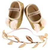 El Bowknot lindo de la flor de la niña única calza la zapatilla de deporte Los zapatos suaves cómodos antideslizantes del niño